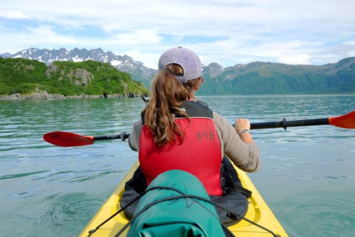 Kayaking near Seward, Alaska